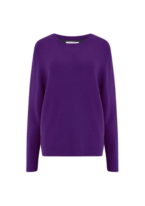 Chinti and Parker Ribbed Back Sweater in Purple