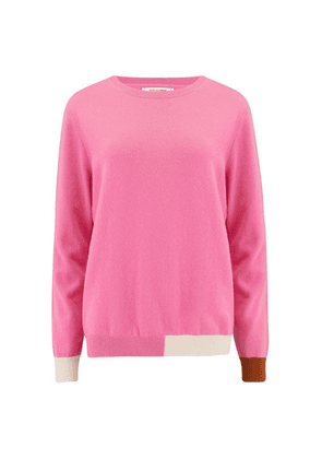 Chinti and Parker Cambridge Sweater in Peony