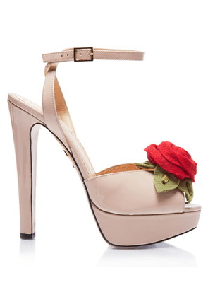 Charlotte Olympia Platforms Women - DIANA ROSE BEIGE Patent 36