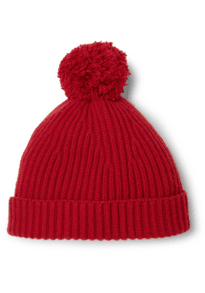 Connolly - + Goodwood Ribbed Cashmere Beanie - Red