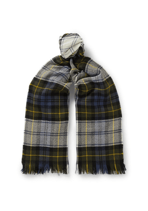 Connolly - Fringed Checked Cashmere Scarf - Multi