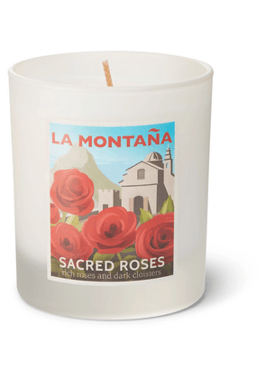 La Montaña - Sacred Roses Scented Candle, 220g - Colorless