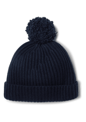 Connolly - + Goodwood Ribbed Cashmere Beanie - Navy