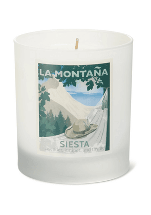 La Montaña - Siesta Scented Candle, 220g - Colorless