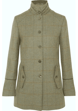 James Purdey & Sons - Piped Checked Wool-tweed Coat - Green