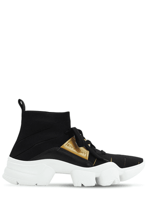 Jaw Sock Sneakers W/ Leather Details