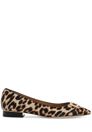 20mm Gigi Printed Pony Skin Ballerinas