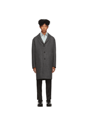 Paul Smith Grey and White Three Button Coat