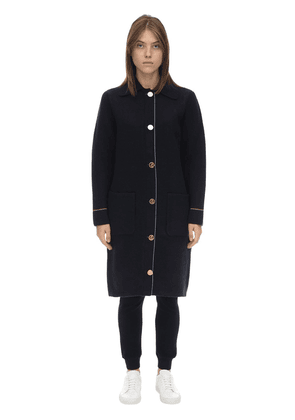 Long Overwashed Wool & Cashmere Coat