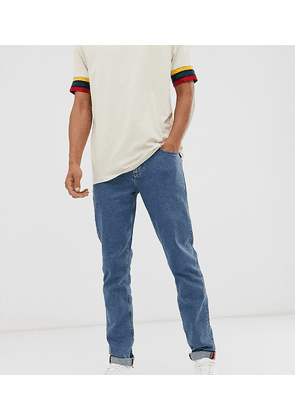 ASOS DESIGN Tall slim jeans in flat mid wash blue