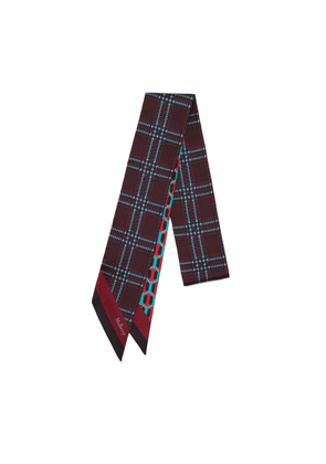 Mulberry Double Sided Bag Scarf in Burgundy Octagon