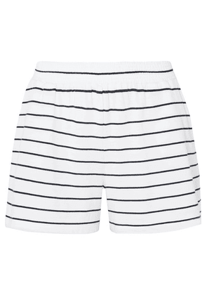 Skin - Ashlyn Striped Pima Cotton And Modal-blend Jersey Pajama Shorts - White