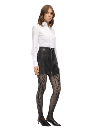 Crossband Net Stay-up Stockings