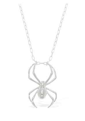 Silver Spider Charm Necklace