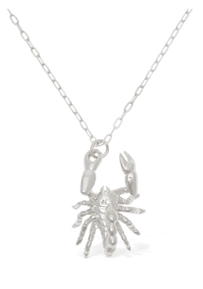 Silver Scorpion Charm Necklace