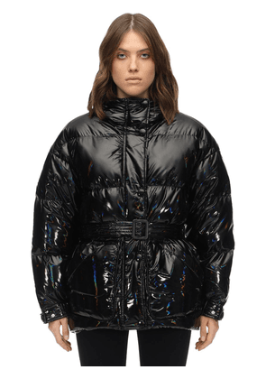 Michlin Belted Holographic Down Jacket