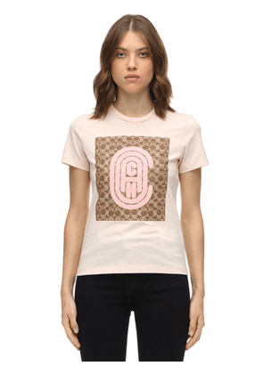 Fitted Retro C Cotton Jersey T-shirt