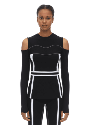 Fearless Stretch Techno Cut-out Top