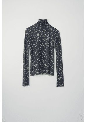 Acne Studios FN-WN-TSHI000166 Mineral blue Star-print roll neck top