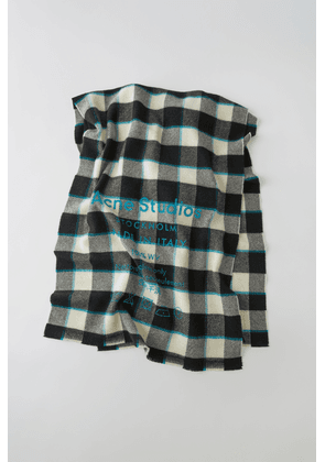 Acne Studios FN-UX-SCAR000026 Black/white  Checked logo scarf