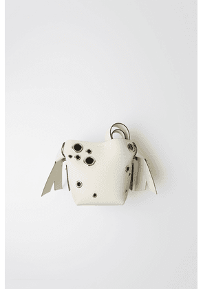 Acne Studios FN-WN-BAGS000051 White Mini leather eyelet bag