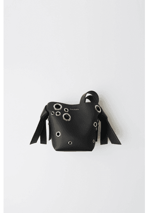 Acne Studios FN-WN-BAGS000051 Black Mini leather eyelet bag