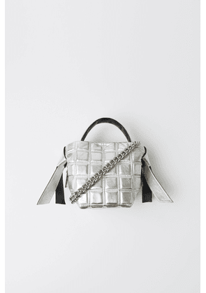 Acne Studios FN-WN-BAGS000082 Silver Mini quilted leather bag