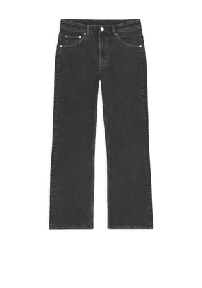FLARED Stretch Cropped Jeans - Black
