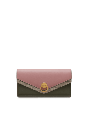 Mulberry Harlow Long Wallet in Mocha Rose Silky Calf and Ayers Multi-Coloured