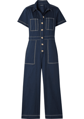 Madewell - Cotton-twill Jumpsuit - Storm blue