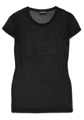 TOM FORD - Metallic Knitted Top - Black