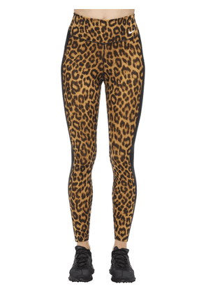 Leopard Print Mid Rise Tight Leggings