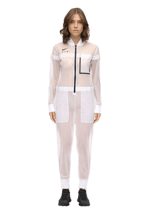 Long Sleeve Nylon Jumpsuit