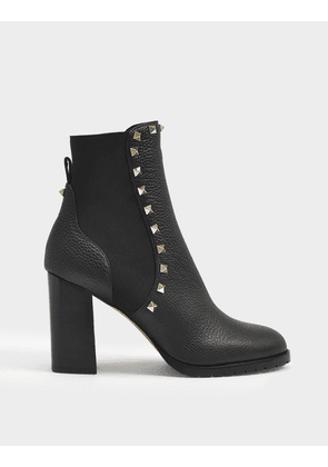 Beatle 80/90 Ankle Boots in Black Leather