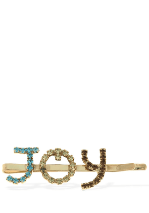 Letters Joy Hair Clip W/ Crystals