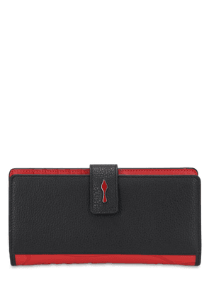 Paloma Grained Leather & Rubber Wallet