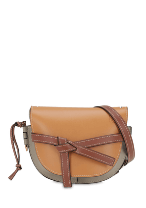 Small Gate Color Block Leather Bag