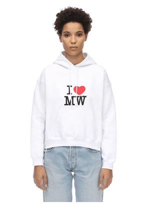 Cropped Cotton Sweatshirt Hoodie