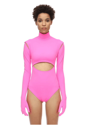 Lycra Bodysuit W/ Cut-outs