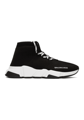 Balenciaga Black Lace-Up Speed Sneakers
