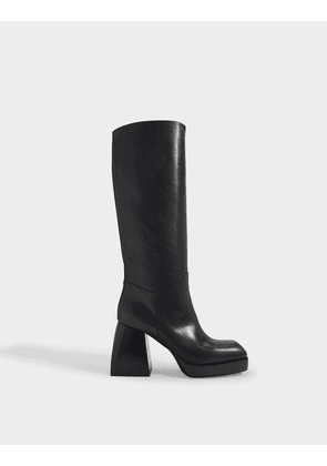 Bulla Solal Boots in Black Calf Leather
