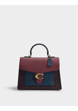 Tabby Top Handle Bag in Vintage Mauve Leather