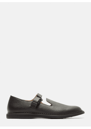 Hender Scheme Neo Strap Leather Shoes in Black size 3
