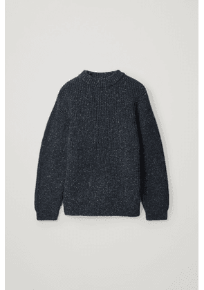 SPECKLED CHUNKY-KNIT JUMPER