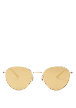The Row - X Oliver Peoples Brownstone 2 Round Sunglasses - Womens - Brown