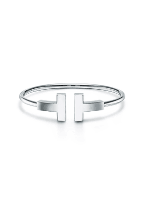Tiffany T large wire bracelet in 18k white gold, small