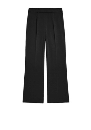 Cropped Cotton Trousers - Black