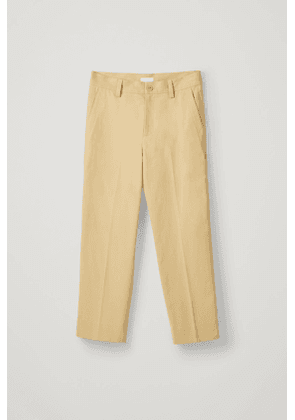 BRUSHED COTTON TWILL PANTS