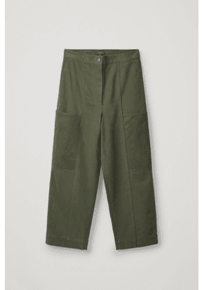 CARGO-STYLE COTTON TROUSERS