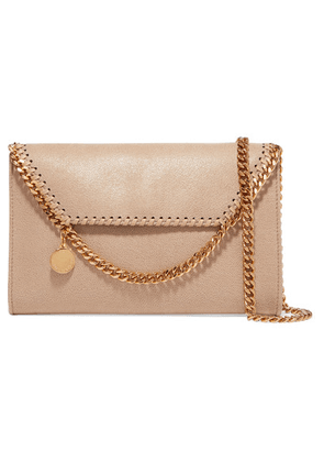 Stella McCartney - The Falabella Tiny Faux Brushed-leather Shoulder Bag - Off-white